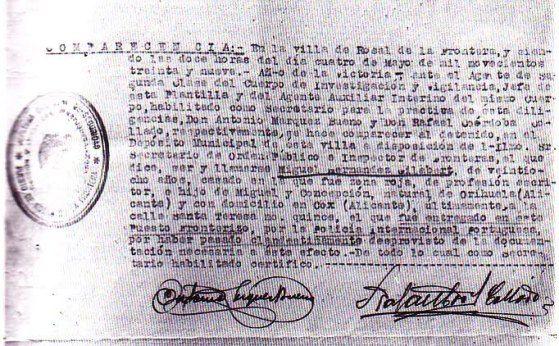 Búscame en el ciclo de la vida: 215. Detención de Miguel Hernández en Rosal de la ...