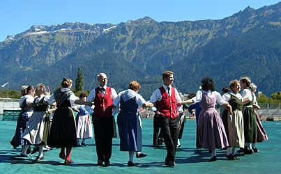 Swiss Old Time Clothes And Cultural Dance People To