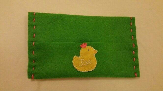 Felt tissue pouch - Ducky