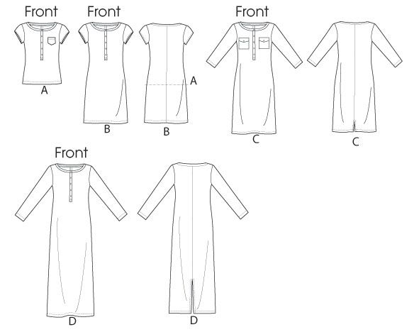 Выкройка McCall's — Платье, Футболка - M6747 | Easy