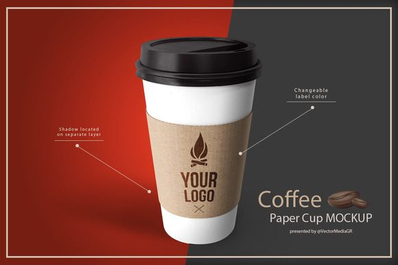 Coffee - Paper Cup Mockup by VectorMedia on @creativemarket
