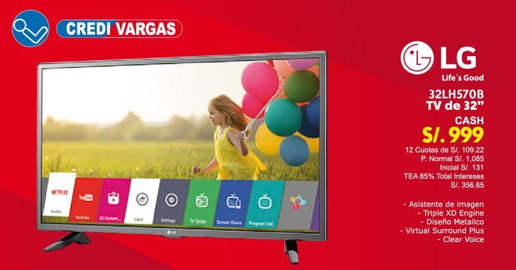 TV LED HD Smart TV con un diseño metalico un asistente de imagen III y Virtual Surround Plus que te hara sentir una experiencia diferente