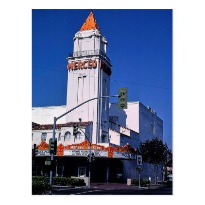 Theater Merced California Postcard - photographer gifts business diy cyo personalize unique