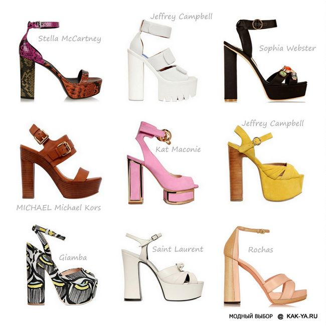 Модные босоножки и сандалии на лето 2015 года с фото