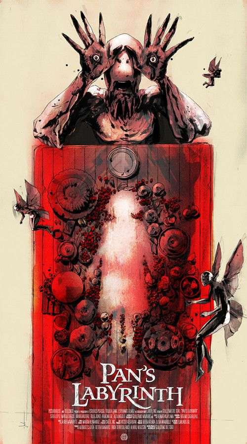 Jock Pan's Labyrinth Variant Movie Poster Mondo Print Guillermo Del Toro SDCC
