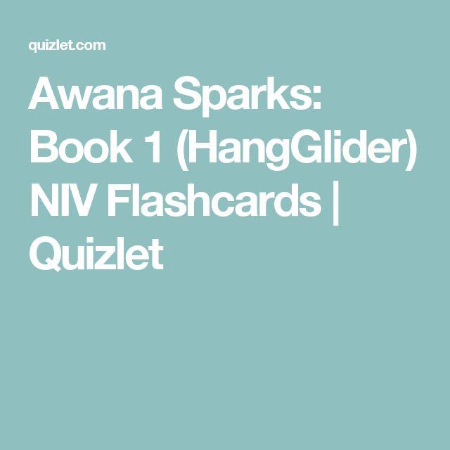 Awana Sparks: Book 1 (HangGlider) NIV Flashcards | Quizlet