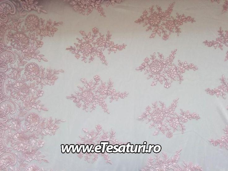 Broderie rozzmeuriu - Tesaturi sintetice