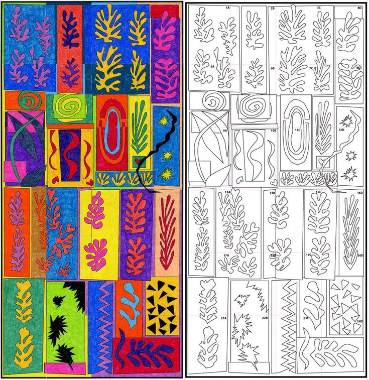 Matisse mural..group work, good early year activity or end year (to leave up in the hall!)...try in clay!