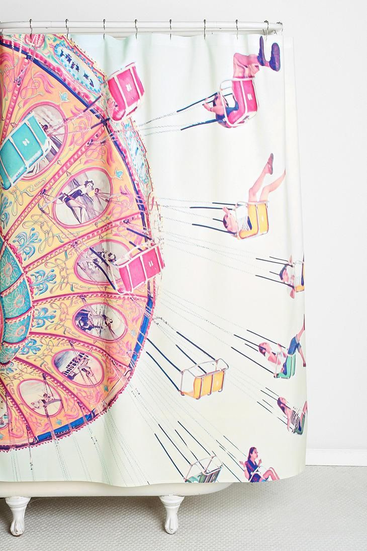 Super fun shower curtain designed by Shannon Clark for DENY. #urbanoutfitters