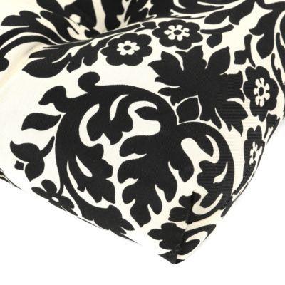 Black & White Damask Outdoor Settee Cushion   Kirkland's