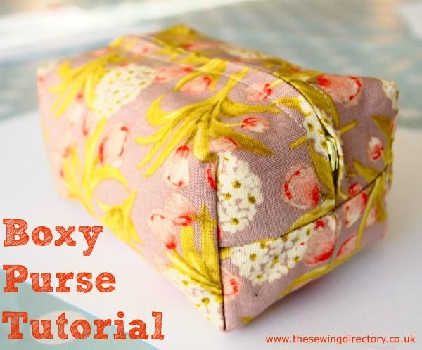 Box shaped purse tutorial