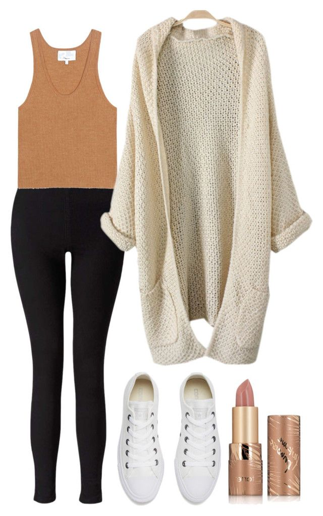 """""""Outfit 242"""" by xkhione on Polyvore featuring Converse, Miss Selfridge, 3.1 Phillip Lim and tarte"""