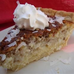 """French Coconut Pie   """"I love this pie. I am not a fan of coconut but this definetly changed my mind about coconut pie. Absolutely delicious."""""""