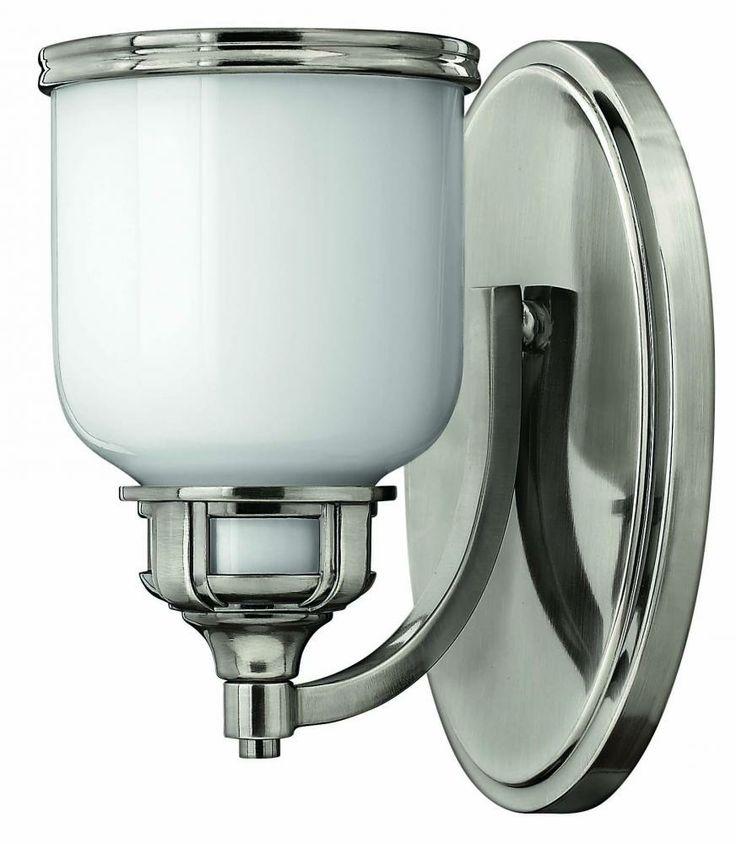 Hinkley 5430PL One Light Nickel Bathroom Sconce | BoweryLights.com $79