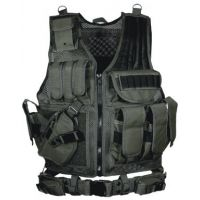 Leapers Deluxe Tactical Vest with Quick Draw Holster Pouch and Belt ON SALE PVC-V547. Best Rated Product. Fully Adjustable in Girth and Length.
