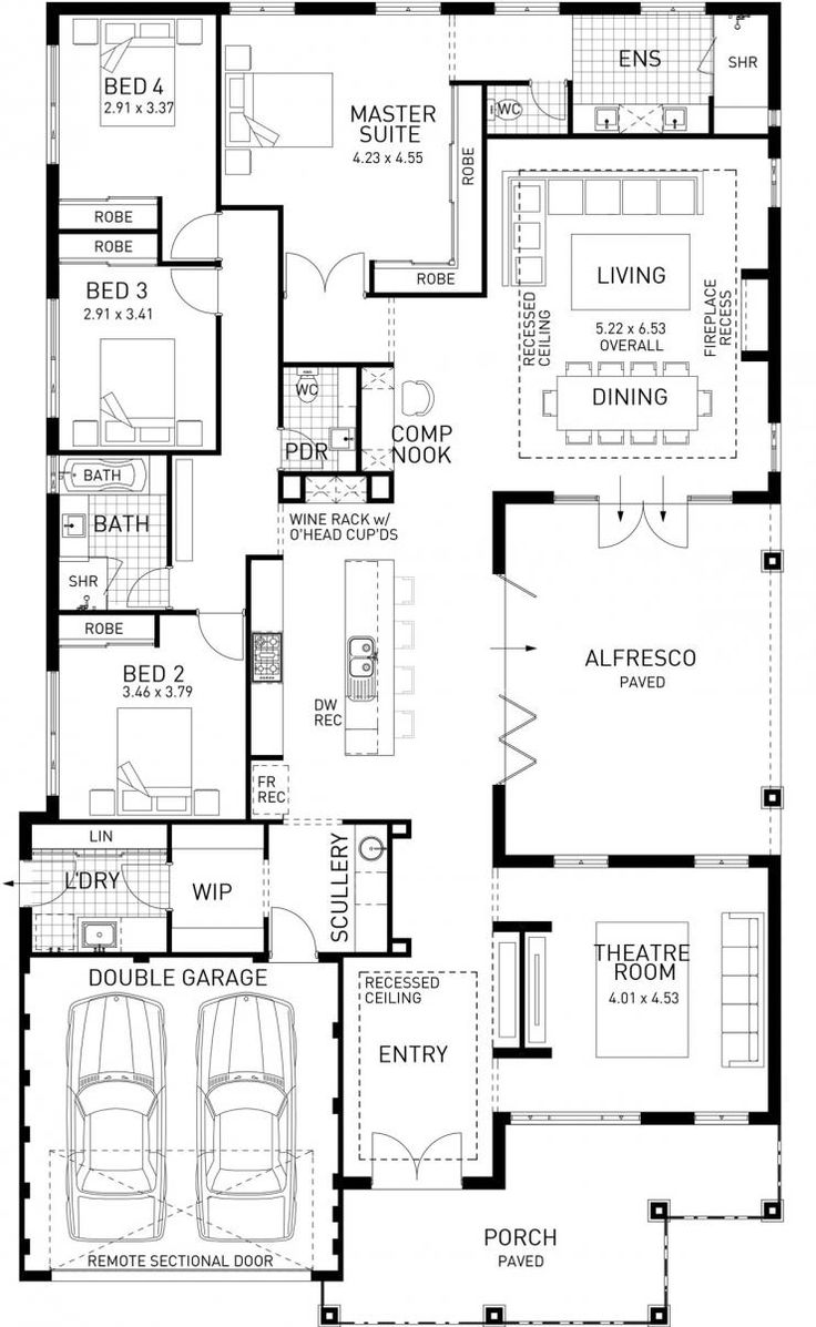 123 best architecture architectural plans images on pinterest the north hampton four bed single storey home design plunkett homes malvernweather Gallery
