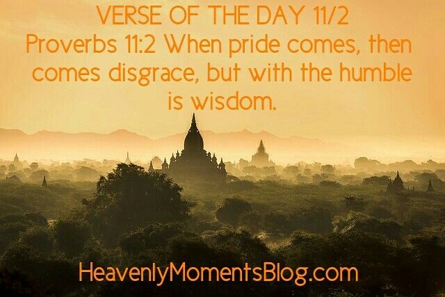 A sick little one means I'm behind today! VERSE OF THE DAY 11/2 Proverbs 11:2 When pride comes, then comes disgrace, but with the humble is wisdom. #Proverbs #verseoftheday #Bibleverse #Bible #CHRISTIAN #christianity #christ #Jesus #God #faith #wisdom