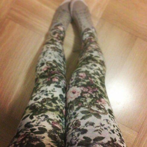 Floral leggings Roses