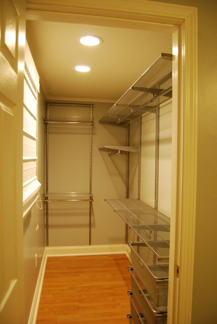 My brand new Elfa walk-in closet!