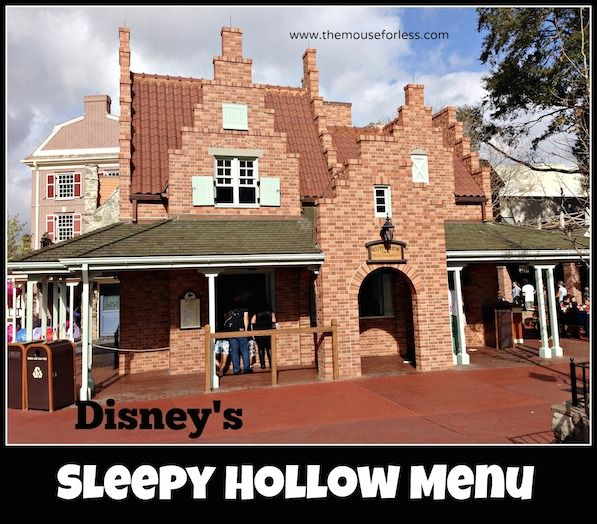 Disney World Food and Restaurants | Sleepy Hollow Menu Liberty Square - Magic Kingdom  | Specializing in waffle sandwiches, funnel cakes and more.