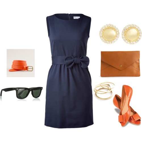 Auburn game days never looked so classy. Love the dress and shoes throw on some orange beads...cute