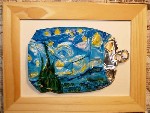 Crushed Soda Can Pop Art | stary night van gogh crushed can art -Soda pop- art | artbyjoni ...