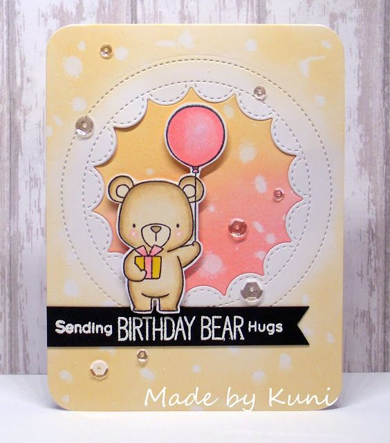 Beary Special Birthday Stamp Set Kunis Bastelblog: Birthday Bear Hugs