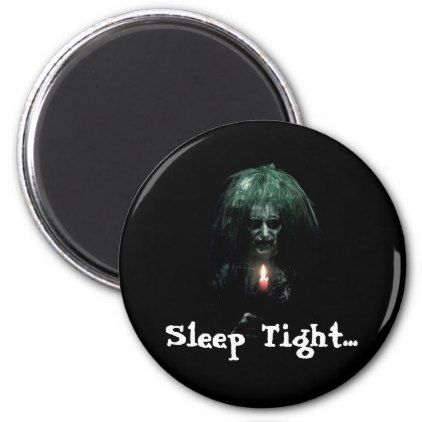 #Sleep Tight... Scary Old Lady Magnet - #Halloween #happyhalloween #festival #party #holiday