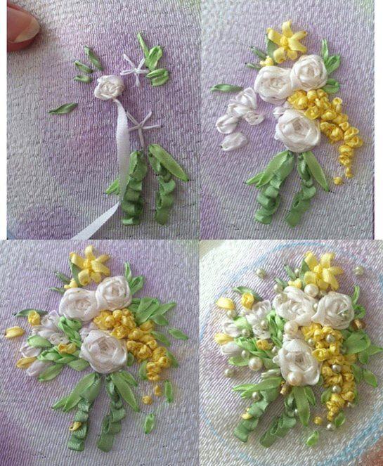 AimeeMajor.com   Ribbon Embroidery Brooch