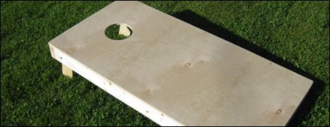 """Cornhole game. Apparently """"America's Favorite Game"""", though I've never heard of it myself lol"""