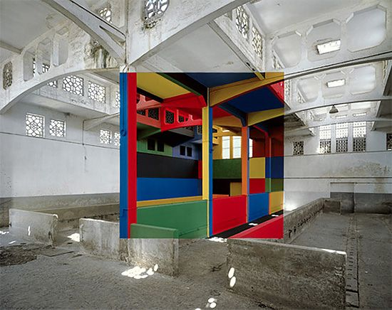 Anamorphic Optical Illusions by Georges Rousse
