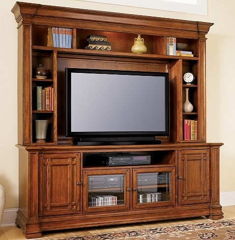 wood entertainment centers for flat screen tvs 2