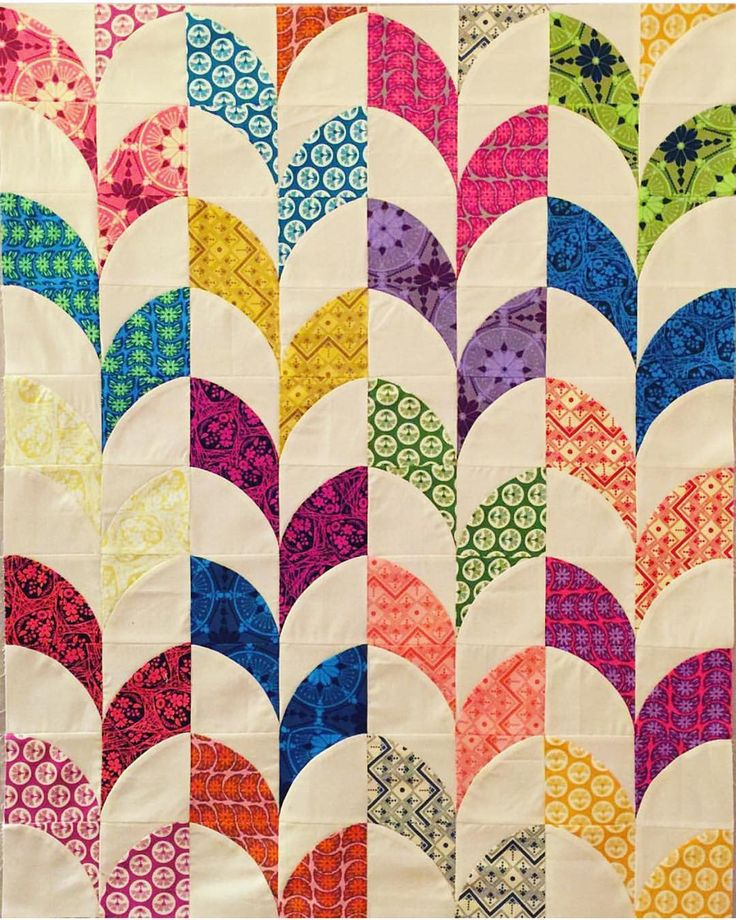 I'm absolutely in love with this quilt top Monica pieced using the QCR Mini!! She used the free pattern that comes with the Mini to make her blocks and came up with her own fun layout. Clever girl! @diaryofaquiltmaven #sewkindofwonderful #qcrmini by sewkindofwonderfuljenny