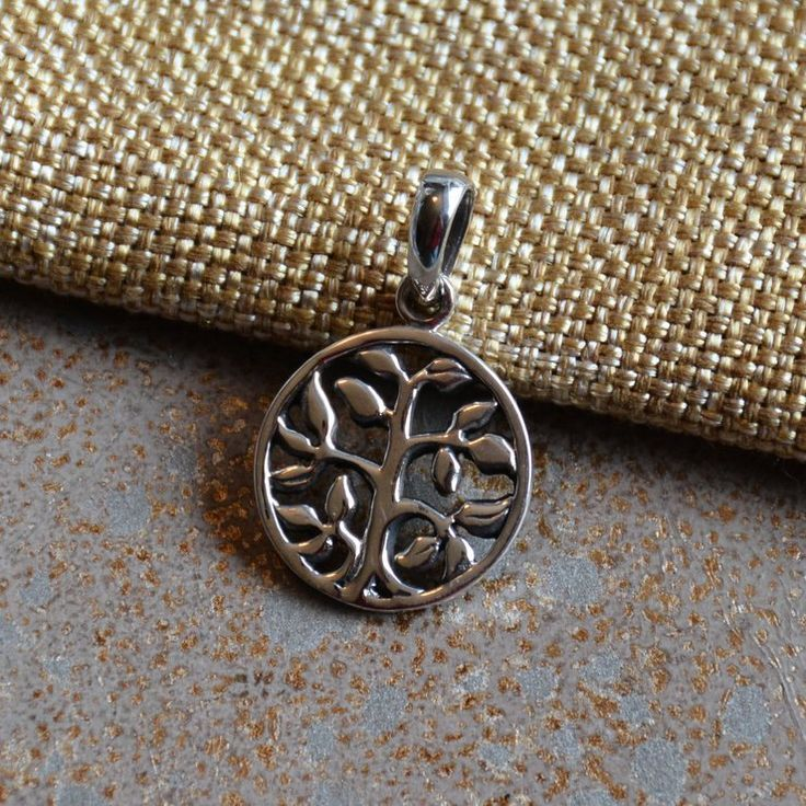 Sterling Silver Tree of Life Pendants, Small Silver Tree of Life, Round Tree of Life Pendant, Tree Pendant, Silver Tree Pendant, One, KP14 by WanderlustWorldArts on Etsy