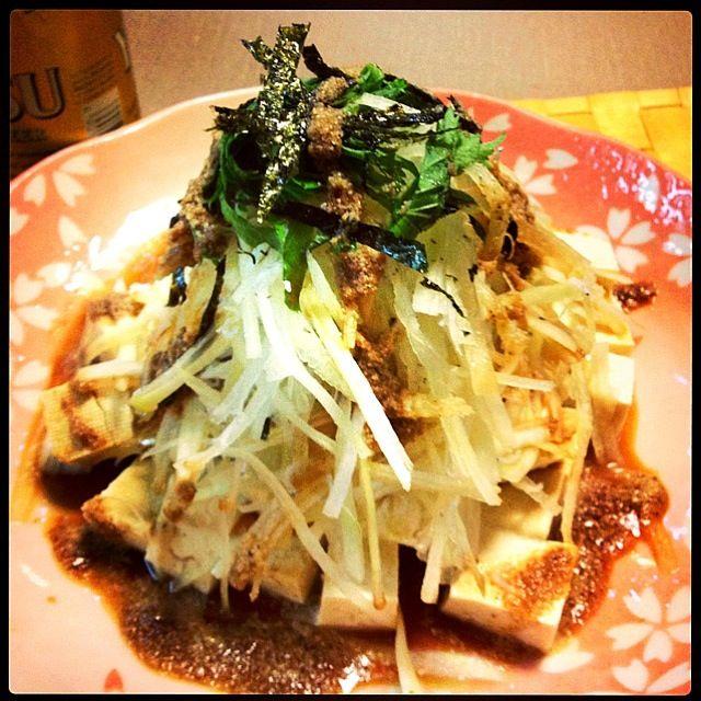 クックパッドのサラダおいしいよぉ〜 - 69件のもぐもぐ - 豆腐大根じゃこゴマサラダ by ririkahime