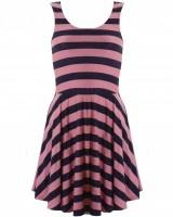 LOVE Pink And Navy Stripe Jersey Skater Dress  £28.00