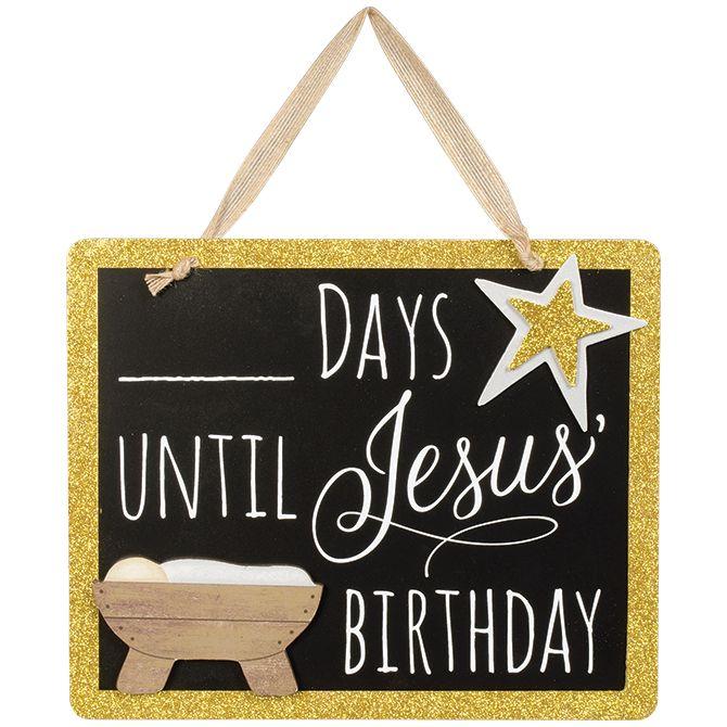 Jesus Birthday Countdown Sign *WHILE SUPPLIES LAST* chalkboard, countdown, calendar, holiday, christmas decor, home decor, 68516