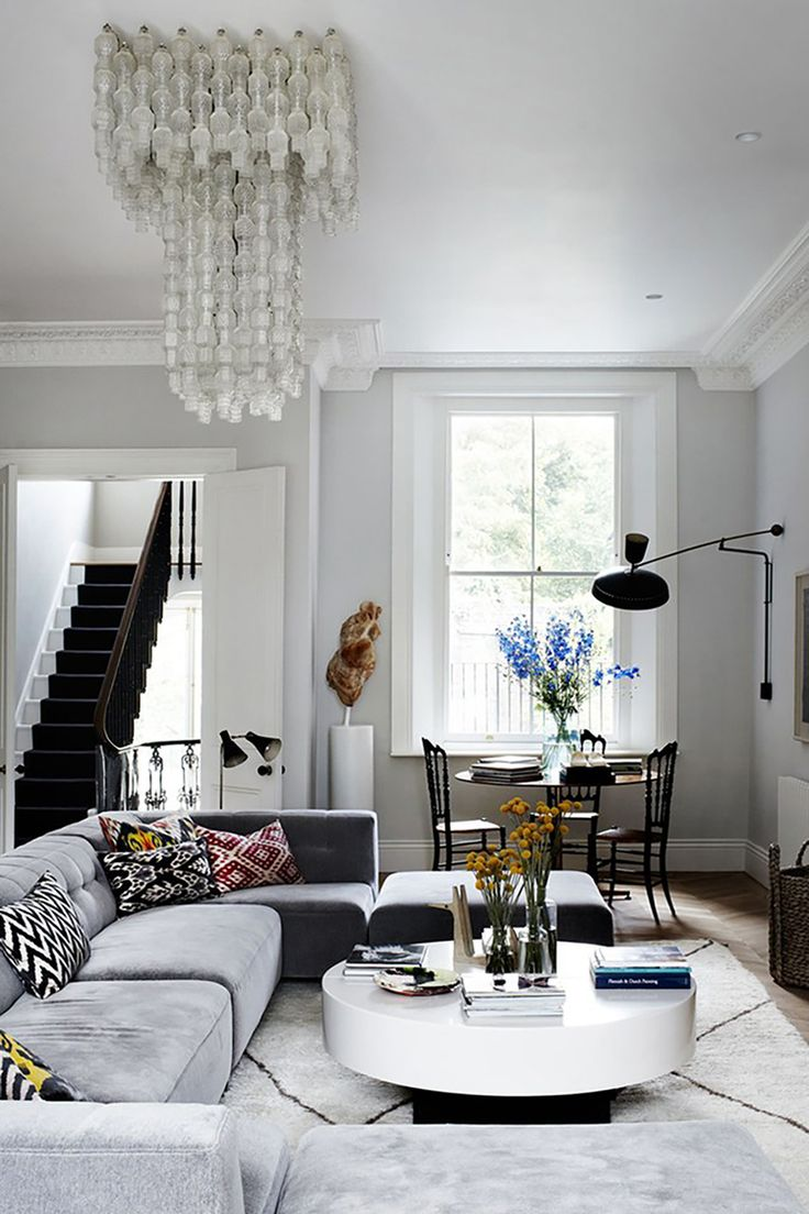 Eclectic glamorous living room