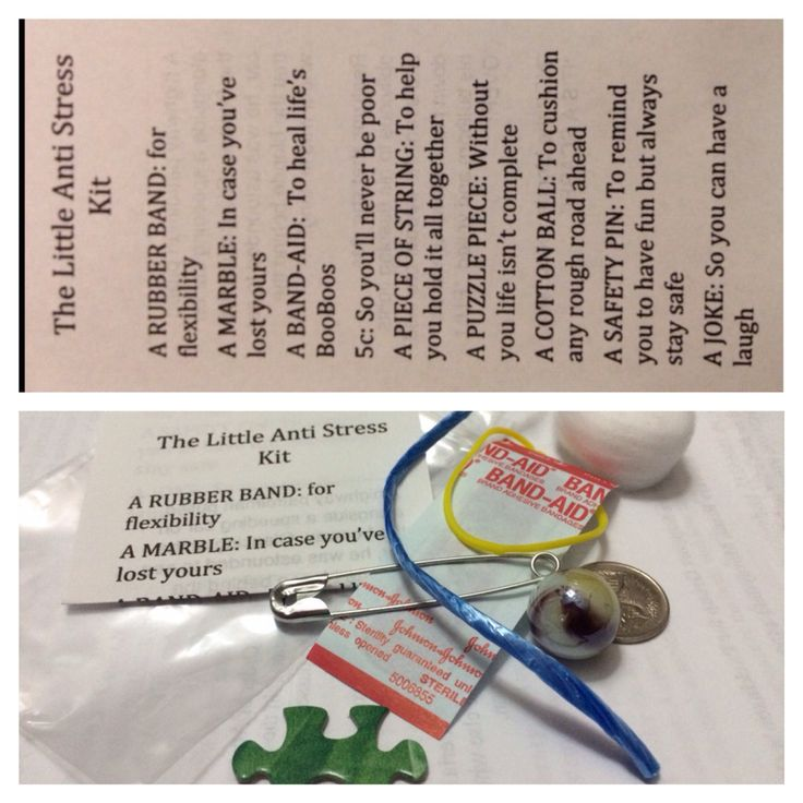 Little Anti Stress Kit, assorted contents as listed - $5 ...