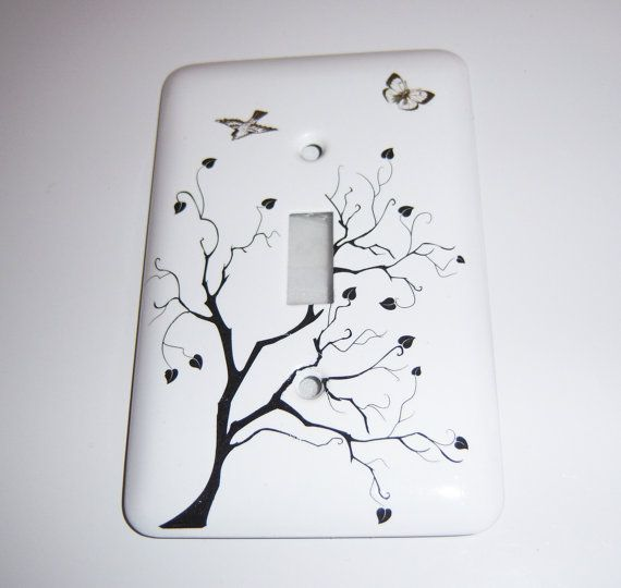 Tree of Hearts single light switch cover by MoanasUniqueDesigns