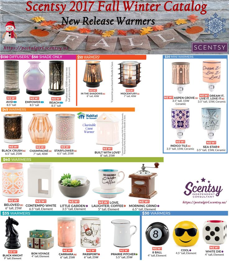 Scentsy 2017 New Release warmers for fall winter. Scentsy 2017 fall winter new release warmers coming September 1, 2017 www.andreaswango.scentsy.us