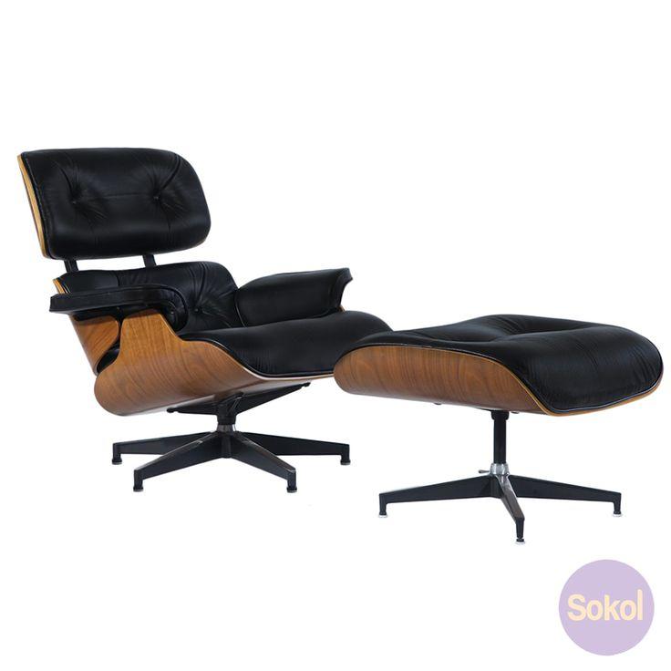 Replica Eames Lounge & Ottoman - Premium Version