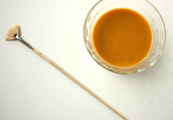 Pumpkin mask:  1. 1/4 cup pureed pumpkin  2. 1 egg  3. 1 tablespoon honey  4. 1 tablespoon milk