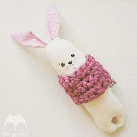 Przytulanka króliczek - komin różowy