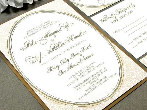 The 25 best Gold wedding invitation sets ideas on Pinterest