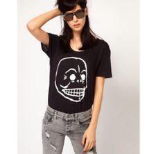 Brand New Cheap Monday Skull Cotton Tee Black Small S Men Women