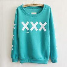 [ Magic ] big XXX e manga specail impresso hoodies algodão para mulheres quente bem velo dentro camisola 5 cor(China (Mainland))