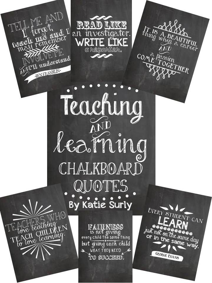 free printable chalkboard quotes