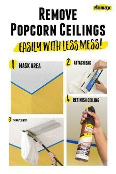Best 20 Remove Popcorn Ceiling Ideas On Pinterest