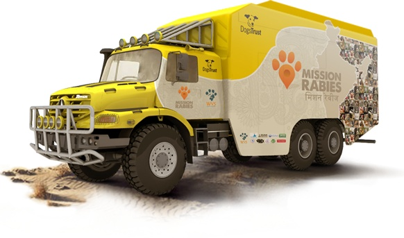 What is Mission Rabies? In September 2013, we aim to vaccinate 50,000 dogs in 30 days.  And that's just the beginning. Mission Rabies will travel across India with the world's most high-tech, all-terrain mobile veterinary hospital, vaccinating 50,000 dogs in just 30 days, in 10 rabies hotspots. But that's just the start. The truck will continue travelling around India running surgical training courses and teaching vets the skills required to run neutering and vaccine campaigns. Article link.